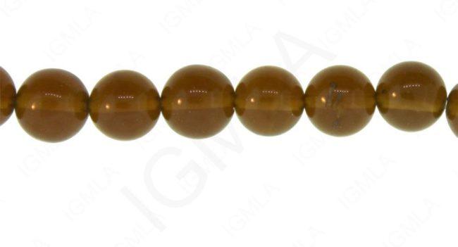 12mm Smoky Quartz Glass Round Beads Beads