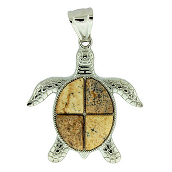 42x48mm picture jasper swimming turtle pendants igm 42x48mm swimming turtle picture jasper jewelry aloadofball Gallery