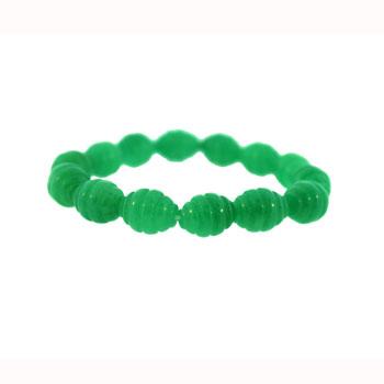 10 X 13mm Dyed Aventurine Corrugated Melon Jewelry