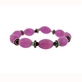 10 X 14mm Dyed Purple Quartz Melon W/Pewter Bds Jewelry