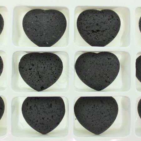 45mm Black Lava Puffy Heart Gift Item Gift Item