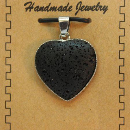 26mm Heart Lava Pendant Jewelry