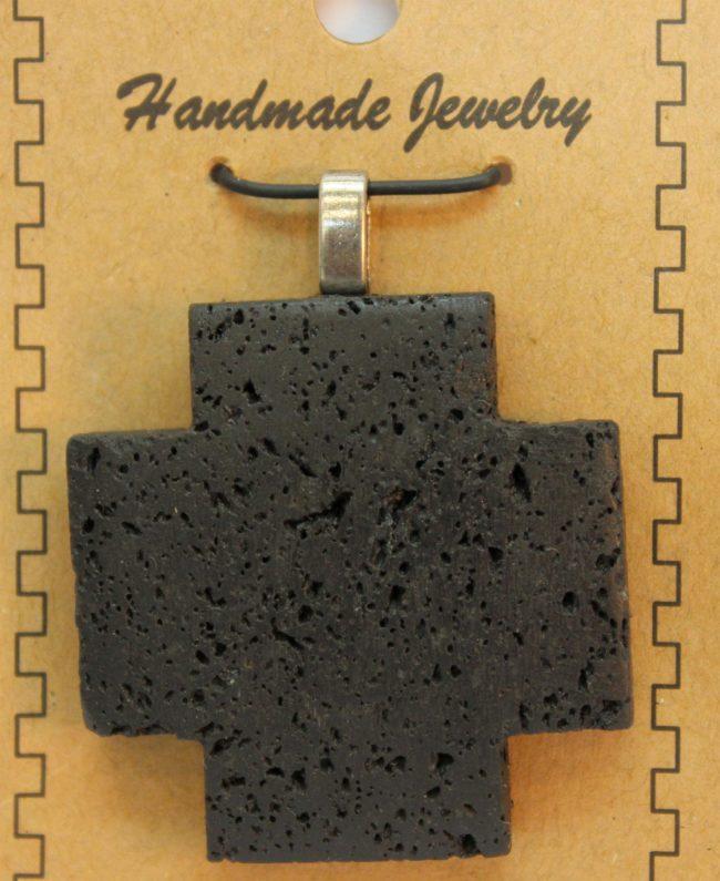 40mm Cross Lava Pendant Jewelry