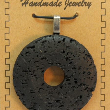 40mm Donut Lava Pendant Jewelry