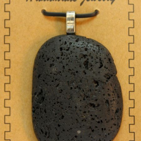 30X50mm Freeform Lava Pendant Jewelry