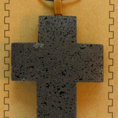 40X58mm Cross Lava Pendant Jewelry