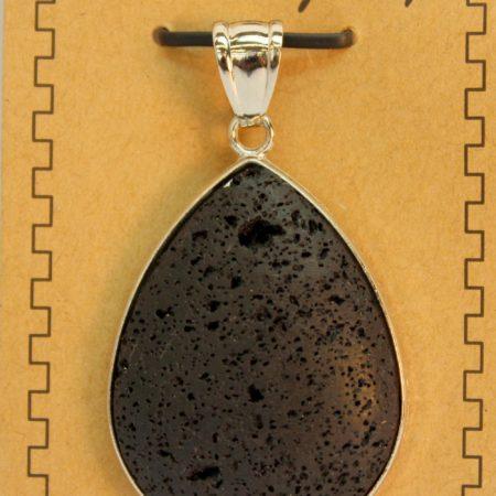 30X40mm Pear Shape Lava Pendant Jewelry
