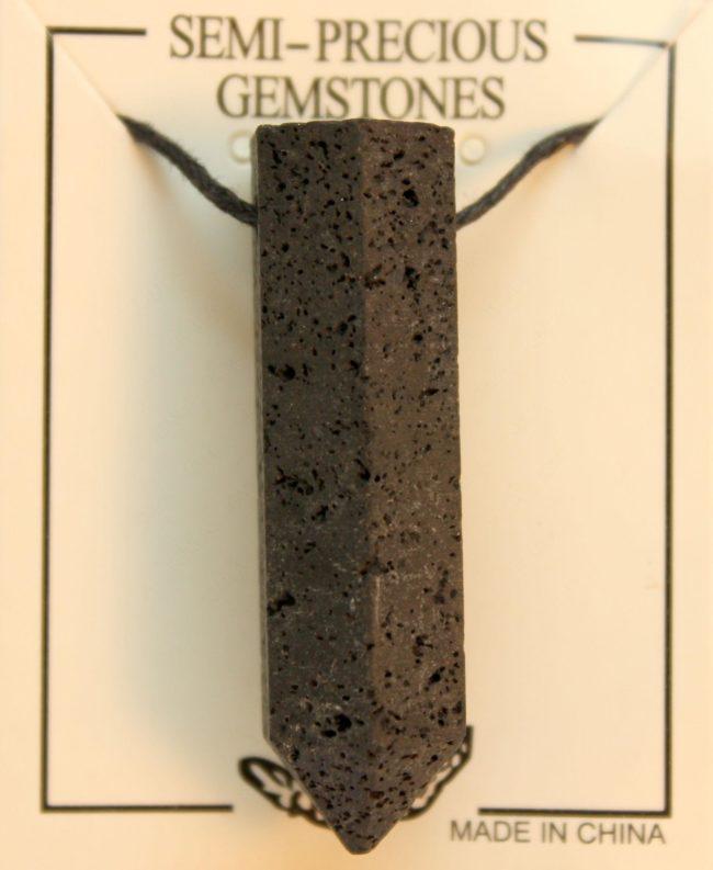 12X45mm Point Lava Pendant Jewelry