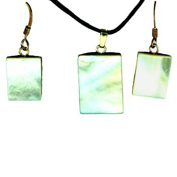 11X15 / 15X20mm Earring/Pendant Rectangle Mop (Pinctada Matgaritefera) Jewelry
