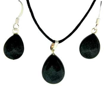 11X14/13X17mm Earring/Pendant Faceted Pear Black Jasper Jewelry