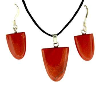 11X16/17X22mm Earring/Pendant Tongue Red Jasper Jewelry