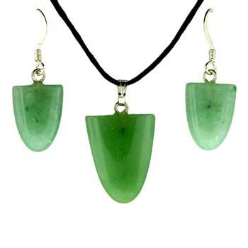 11X16/17X22mm Earring/Pendant Tongue Green Aventurine Jewelry