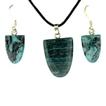 11X16/17X22mm Earring/Pendant Tongue Blue Laguna Lace Jewelry