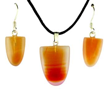 11X16/17X22mm Earring/Pendant Tongue Carnelian Agate Jewelry