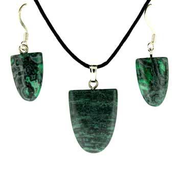 11X16/17X22mm Earring/Pendant Tongue Green Laguna Lace Jewelry